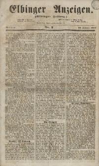 Elbinger Anzeigen, Nr. 7. Mittwoch, 24. Januar 1855