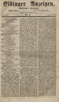 Elbinger Anzeigen, Nr. 8. Sonnabend, 27. Januar 1855