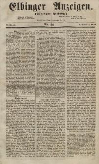 Elbinger Anzeigen, Nr. 11. Mittwoch, 7. Februar 1855