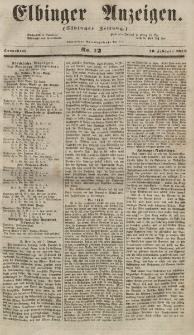 Elbinger Anzeigen, Nr. 12. Sonnabend, 10. Februar 1855
