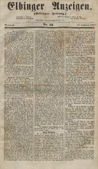 Elbinger Anzeigen, Nr. 13. Mittwoch, 14. Februar 1855