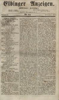 Elbinger Anzeigen, Nr. 14. Sonnabend, 17. Februar 1855