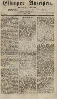 Elbinger Anzeigen, Nr. 17. Mittwoch, 28. Februar 1855