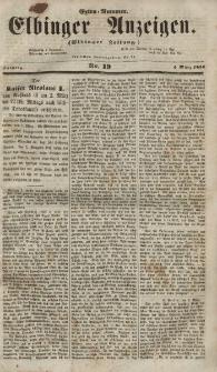 Elbinger Anzeigen, Nr. 19. Sonntag, 4. März 1855