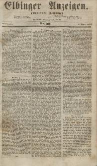 Elbinger Anzeigen, Nr. 20. Mittwoch, 7. März 1855