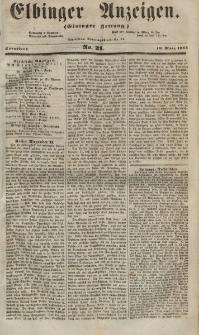 Elbinger Anzeigen, Nr. 21. Sonnabend, 10. März 1855