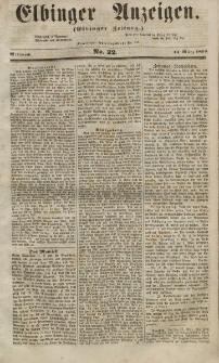 Elbinger Anzeigen, Nr. 22. Mittwoch, 14. März 1855