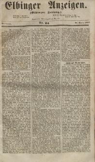 Elbinger Anzeigen, Nr. 24. Mittwoch, 21. März 1855