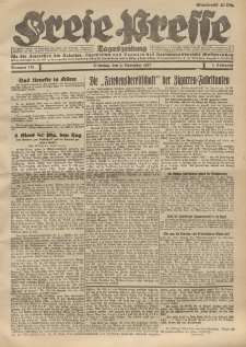 Freie Presse, Nr. 179 Dienstag 8. November 1927 3. Jahrgang