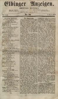 Elbinger Anzeigen, Nr. 28. Mittwoch, 4. April 1855