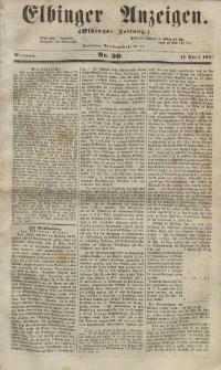 Elbinger Anzeigen, Nr. 30. Mittwoch, 11. April 1855