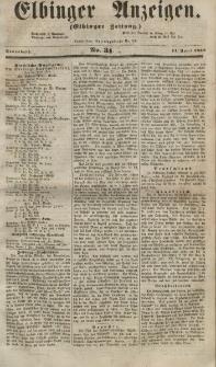 Elbinger Anzeigen, Nr. 31. Sonnabend, 14. April 1855