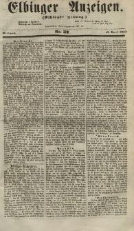 Elbinger Anzeigen, Nr. 32. Mittwoch, 18. April 1855