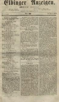 Elbinger Anzeigen, Nr. 33. Sonnabend, 21. April 1855