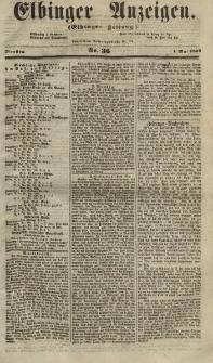 Elbinger Anzeigen, Nr. 36. Dienstag, 1. Mai 1855