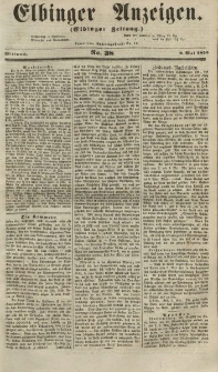 Elbinger Anzeigen, Nr. 38. Mittwoch, 9. Mai 1855