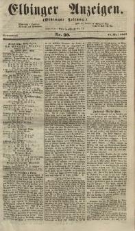 Elbinger Anzeigen, Nr. 39. Sonnabend, 12. Mai 1855