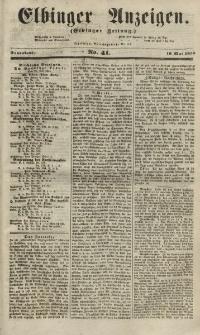Elbinger Anzeigen, Nr. 41. Sonnabend, 19. Mai 1855
