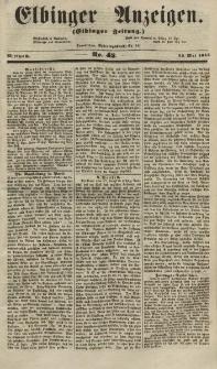 Elbinger Anzeigen, Nr. 42. Mittwoch, 23. Mai 1855