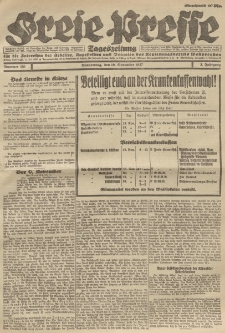 Freie Presse, Nr. 181 Donnerstag 10. November 1927 3. Jahrgang