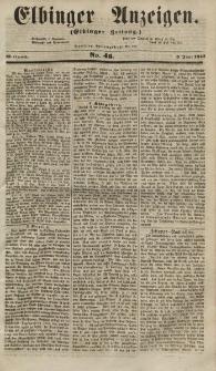 Elbinger Anzeigen, Nr. 46. Mittwoch, 6. Juni 1855