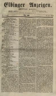 Elbinger Anzeigen, Nr. 47. Sonnabend, 9. Juni 1855