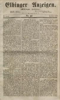 Elbinger Anzeigen, Nr. 48. Mittwoch, 13. Juni 1855