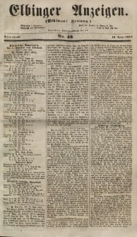 Elbinger Anzeigen, Nr. 49. Sonnabend, 16. Juni 1855