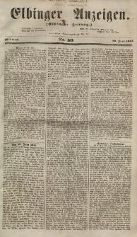 Elbinger Anzeigen, Nr. 50. Mittwoch, 20. Juni 1855