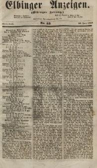 Elbinger Anzeigen, Nr. 53. Sonnabend, 30. Juni 1855