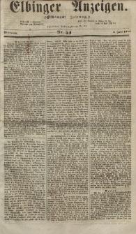 Elbinger Anzeigen, Nr. 54. Mittwoch, 4. Juli 1855