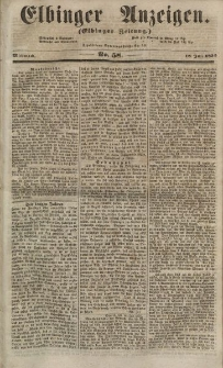 Elbinger Anzeigen, Nr. 58. Mittwoch, 18. Juli 1855