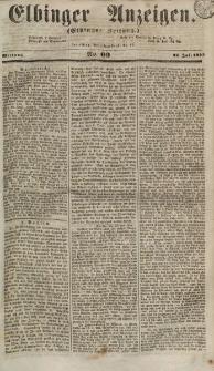 Elbinger Anzeigen, Nr. 60. Mittwoch, 25. Juli 1855
