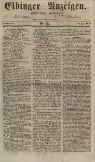 Elbinger Anzeigen, Nr. 61. Sonnabend, 28. Juli 1855