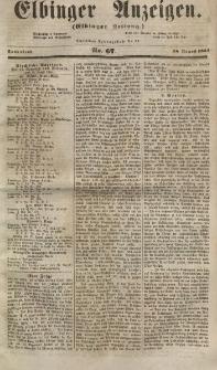 Elbinger Anzeigen, Nr. 67. Sonnabend, 18. August 1855