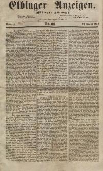 Elbinger Anzeigen, Nr. 68. Mittwoch, 22. August 1855