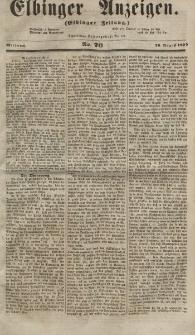 Elbinger Anzeigen, Nr. 70. Mittwoch, 29. August 1855
