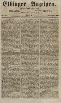 Elbinger Anzeigen, Nr. 72. Mittwoch, 5. September 1855