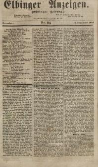 Elbinger Anzeigen, Nr. 75. Sonnabend, 15. September 1855