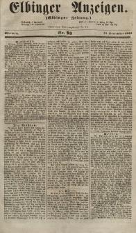 Elbinger Anzeigen, Nr. 76. Mittwoch, 19. September 1855