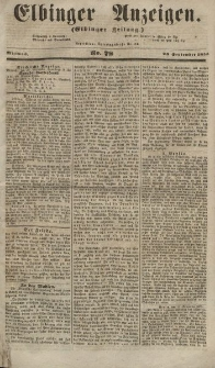 Elbinger Anzeigen, Nr. 77. Sonnabend, 22. September 1855