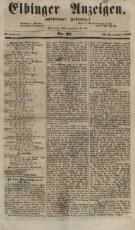 Elbinger Anzeigen, Nr. 79. Sonnabend, 29. September 1855