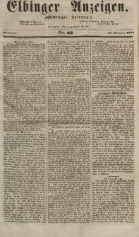 Elbinger Anzeigen, Nr. 83. Mittwoch, 10. Oktober 1855