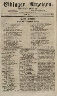 Elbinger Anzeigen, Nr. 84. Sonnabend, 13. Oktober 1855