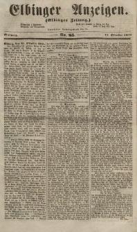 Elbinger Anzeigen, Nr. 85. Mittwoch, 17. Oktober 1855
