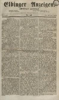 Elbinger Anzeigen, Nr. 87. Mittwoch, 24. Oktober 1855