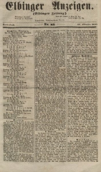 Elbinger Anzeigen, Nr. 88. Sonnabend, 27. Oktober 1855