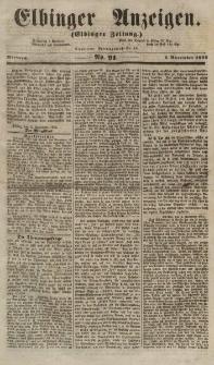 Elbinger Anzeigen, Nr. 91. Mittwoch, 7. November 1855