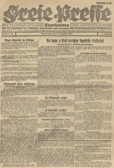 Freie Presse, Nr. 186 Donnerstag 17. November 1927 3. Jahrgang