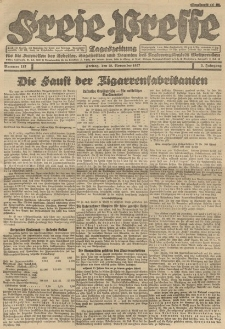 Freie Presse, Nr. 187 Freitag 18. November 1927 3. Jahrgang